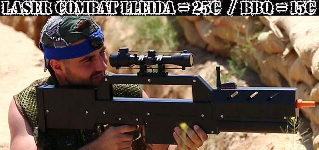 Laser Combat Lleida. Despedidas de soltero y soltera en Lleida