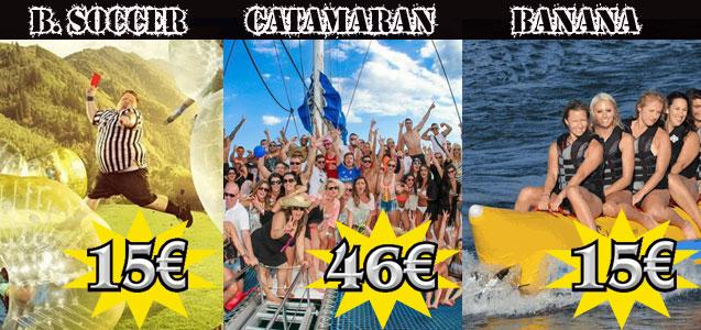 Fiesta en Catamarán, Bubble Soccer, Banana Boat - - Despedidas de soltero y soltera