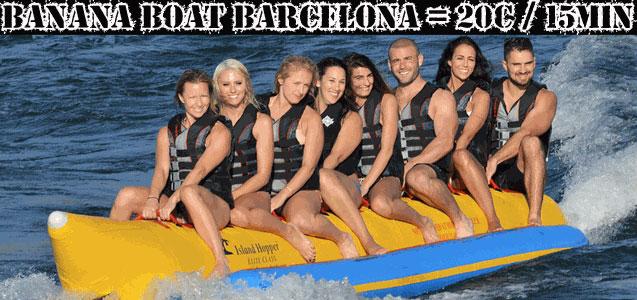 Banana Boat Barcelona. Despedidas de soltero y soltera Barcelona