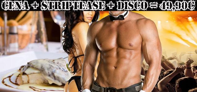 Restaurante, show de striptease y discoteca con consumición. Despedidas de soltero y soltera Barcelona