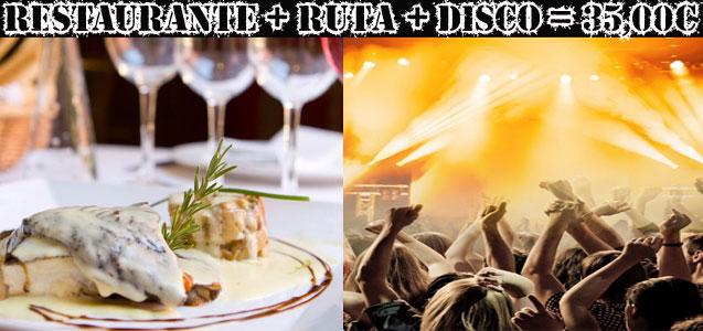 Restaurante y discoteca, consumición incluida. Despedidas de soltero y soltera Barcelona