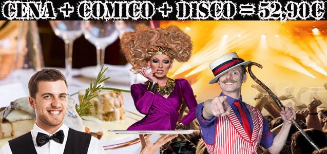 Restaurante, Show Cómico, Discoteca y Consumición. Despedidas de soltero y soltera Barcelona