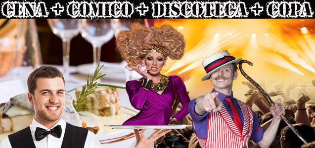 restaurante, show erótico y discoteca