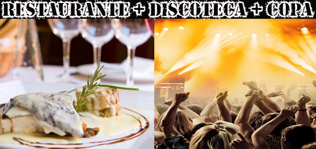 restaurante, show cómico y discoteca