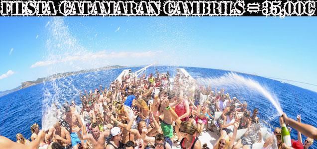 Fiesta en Catamarán con Barra libre. Despedidas y fiestas Salou.