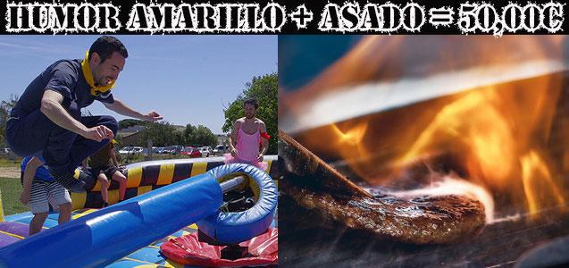 Humor Amarillo, Asado Argentino en Cambrils. Despedidas y fiestas Salou.
