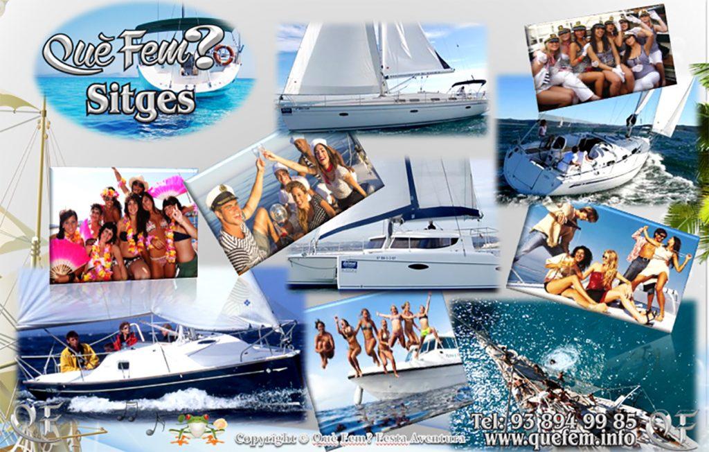 Alquiler de Barcos para despedidas y fiestas en Sitges