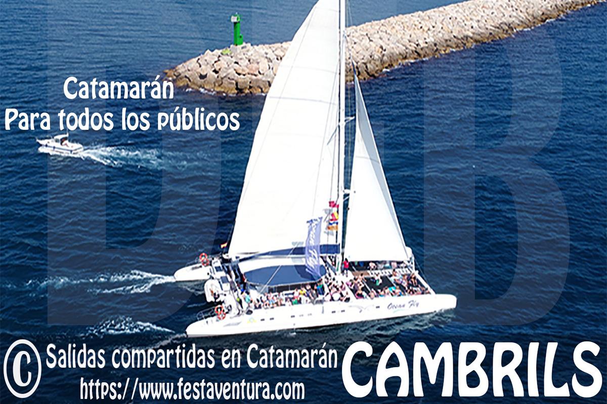 Salidas en Catamarán para grupos en Cambrils